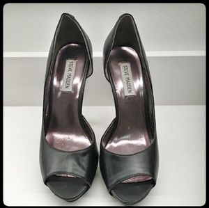 👠Steve Madden Open Toe Black Shoes Size Size 9